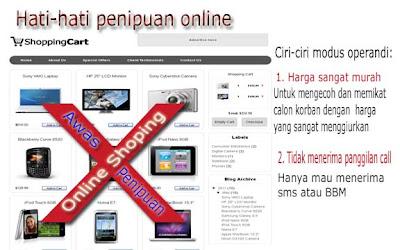 hati-hati penipuan online shoping