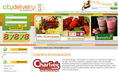 Charlie's Grind and Grill via City Delivery