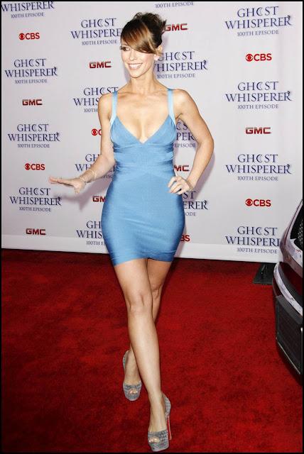 Jennifer Love Hewitt blue dress