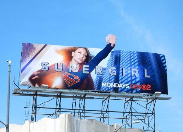 Supergirl special extension billboard
