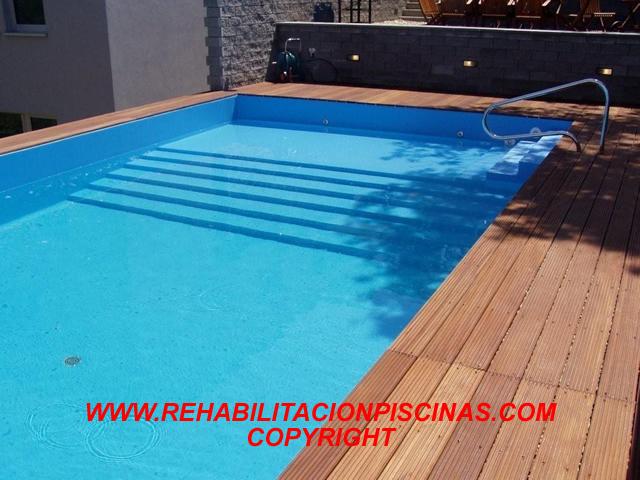 Planos low cost consulta sobre el liner armado for Solados para piscinas