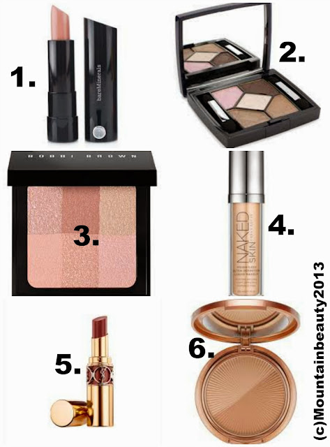 bobbi brown brightening brick urban decay naked skin ysl volupte shine art deco bronzing powder compact bare mineral marvelous moxy lipstick dior rosy tan