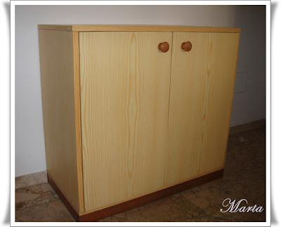 Las manualidades de marta unos muebles reciclados for Muebles de cocina reciclados