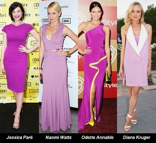 Famosas color del año 2014 de Pantone.