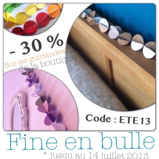 fine en bulle code promo chez fine en bulle 30 sur les guirlandes en papier. Black Bedroom Furniture Sets. Home Design Ideas