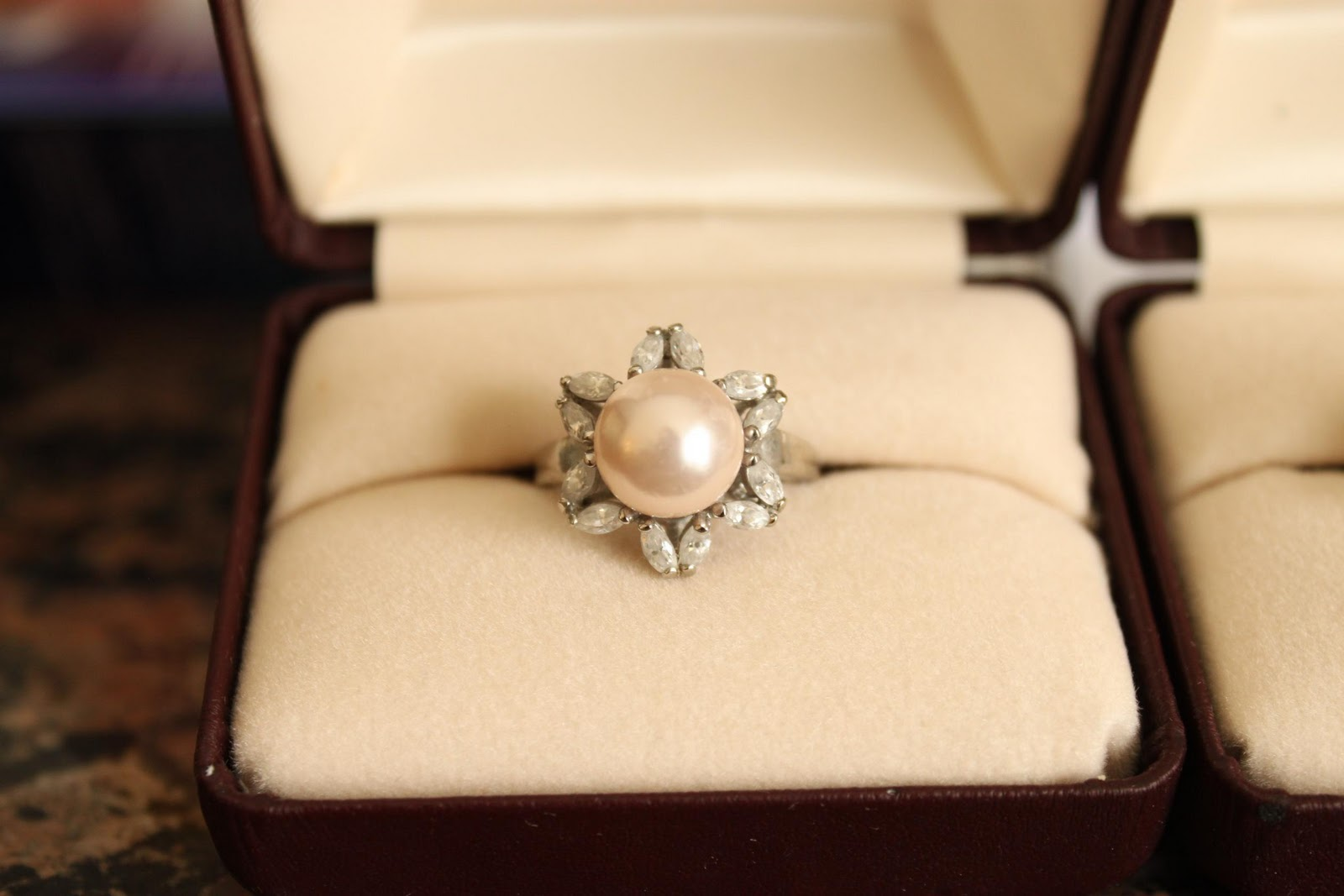 The Lovely Wife In The Photograph Was Wearing The Most Fabulous Pearl Ring,  Evah! I Wanted One This Is What I Got