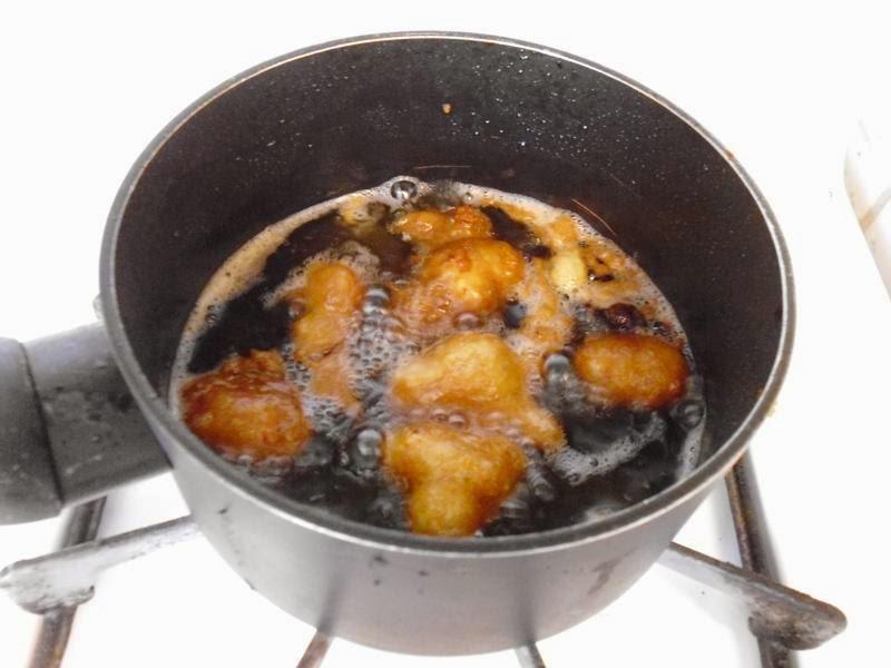 Frying curd