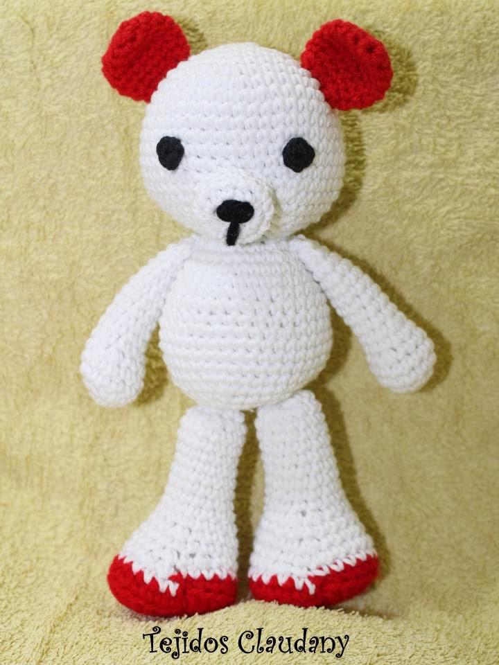 Tejidos Claudany: Osito corazón a crochet