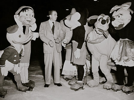 On opening day, Disneyland, Ice Capades