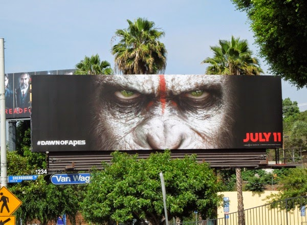 Dawn of the Planet of the Apes teaser billboard