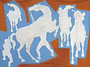 Cavalos circa 1951 guache card board 30x40cm