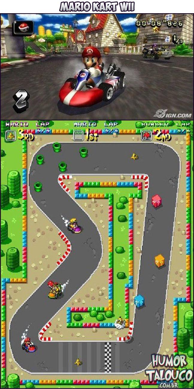 Games Atuais com Gráficos de Super Nintendo - Mario Kart Wii
