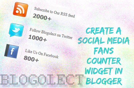 Social Media Fans Counter Widget