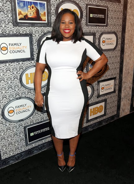 Amber Riley in Simply Be Dress