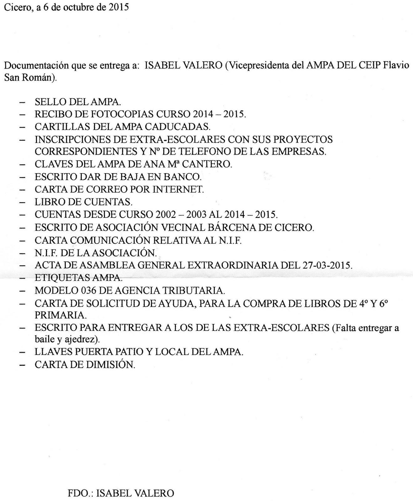 AMPA Flavio San Román : RENUNCIA DE VARIOS MIEMBROS DE LA JUNTA ...
