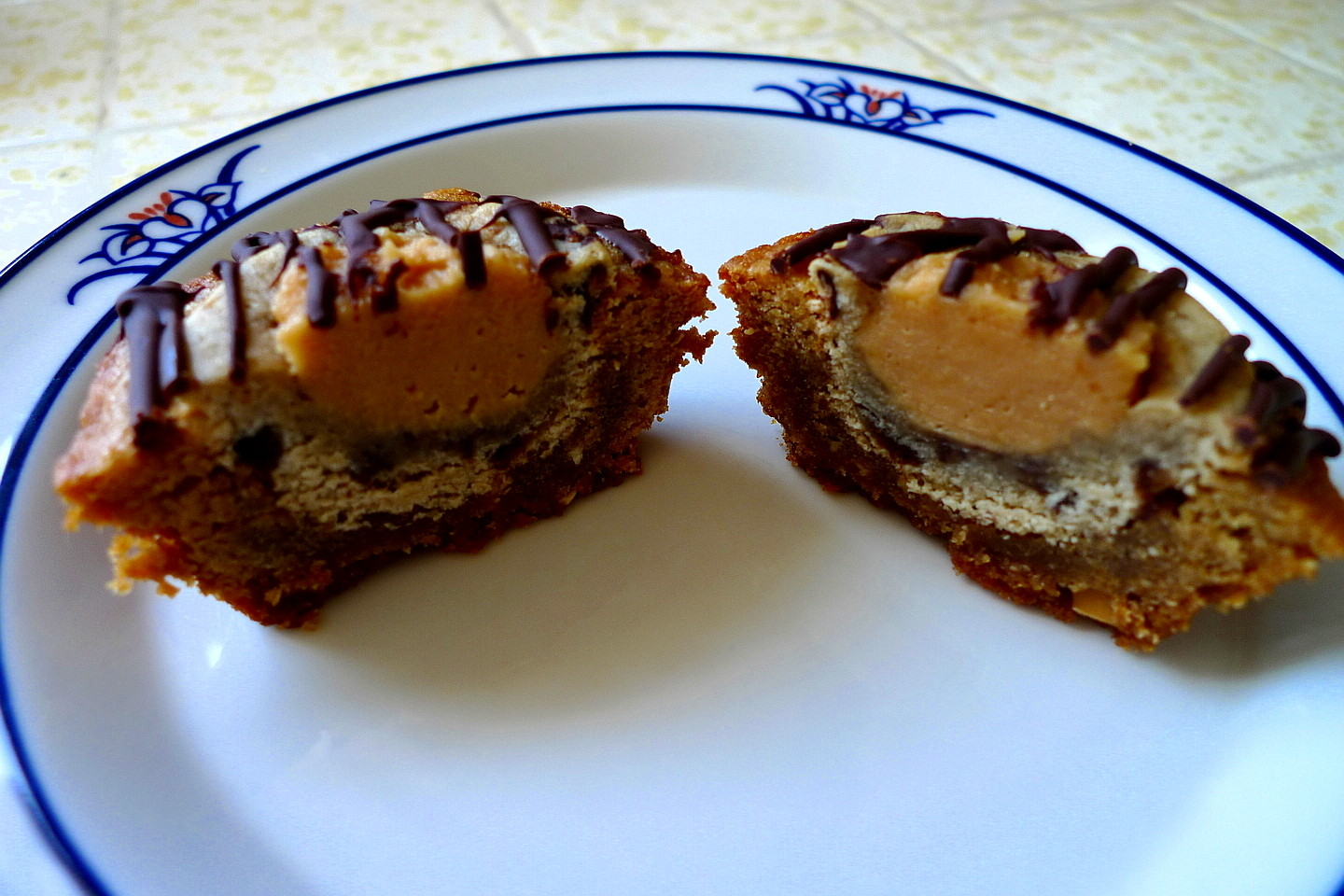 ... AS SUGAR COOKIES: Giant Peanut Butter Banana Bullseye Cookie Cups