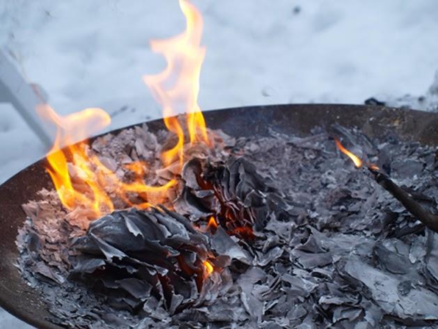 Ild i haven om vinteren
