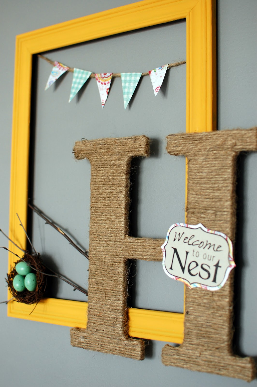 welcome to our nest monogram frame - Monogram Picture Frame
