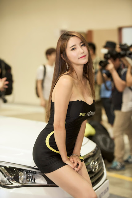 3 Im Sol Ah - 2015 Seoul Auto Salon - very cute asian girl-girlcute4u.blogspot.com