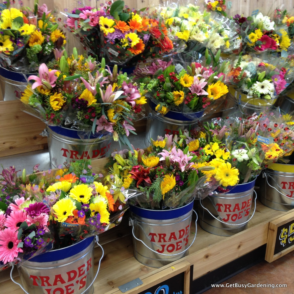 Fresh cut flowers at the local market