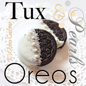 Fantastic idea with #Oreos for a #wedding or #blacktie party. |  #tutorial at I Gotta Create!