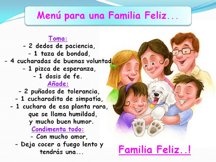 Menú para una Familia Feliz