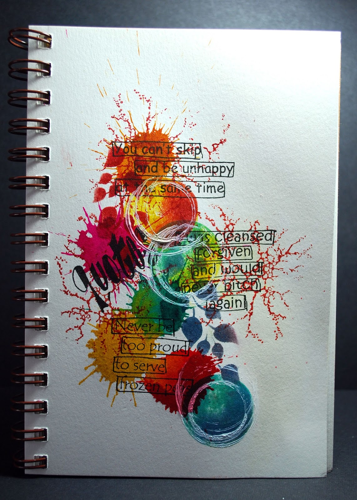Eileen 39 s crafty zone art journal page with dylusions for Journal painting ideas