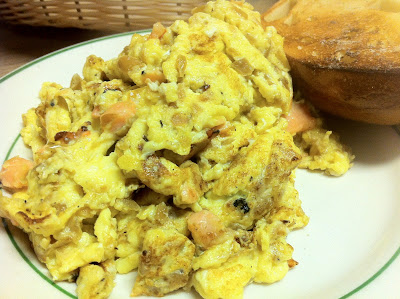 Scrambled Eggs with Lox at Barney Greengrass