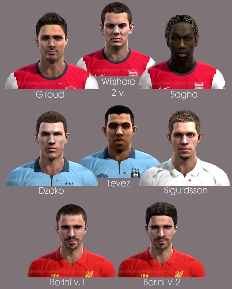 PES 2012 Premier League Facepack by shamrik gunners