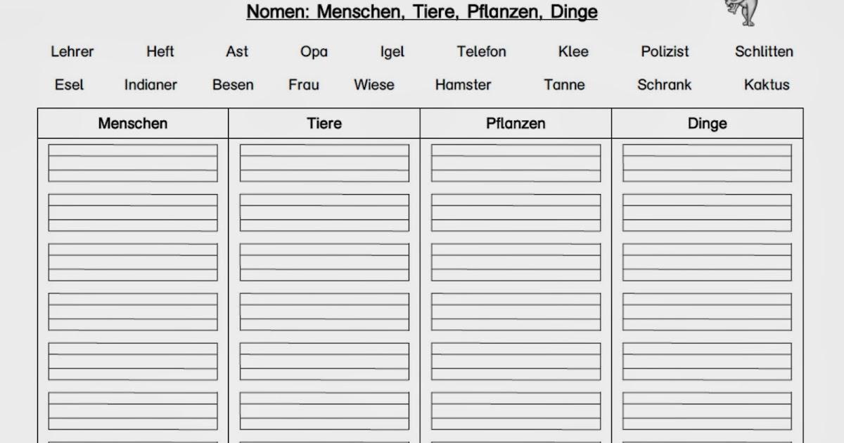 Materialwerkstatt: Wortarten Nomen