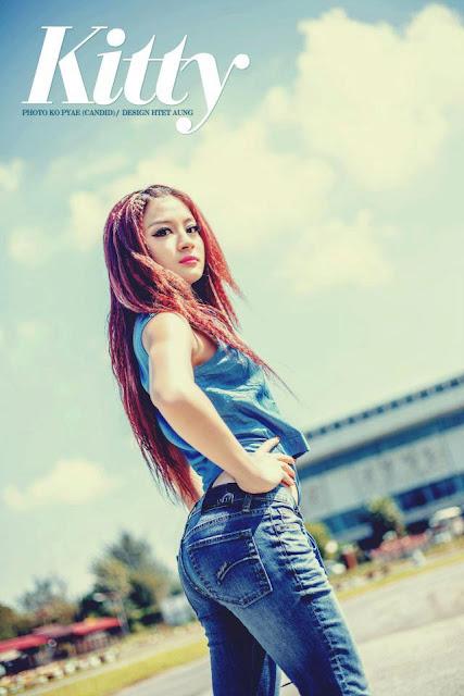 myanmar attractive model wut mhone shwe ye