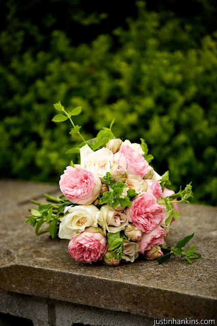 Isha Foss Events Bridal Piano Garden Rose, honeysuckle, scented geranium bouquet