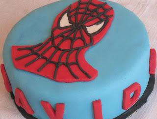 Tarta fondant_Cumpleaños_Niños_Spiderman_Tarta infantil