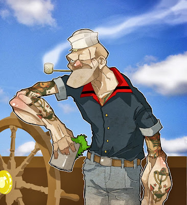 Cartoon Tattooed Popeye