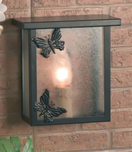 aplique de forja, lampara para pared, lampara terraza