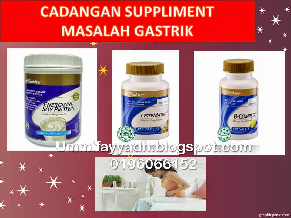 CADANGAN SUPPLIMENT MASALAH GASTRIK