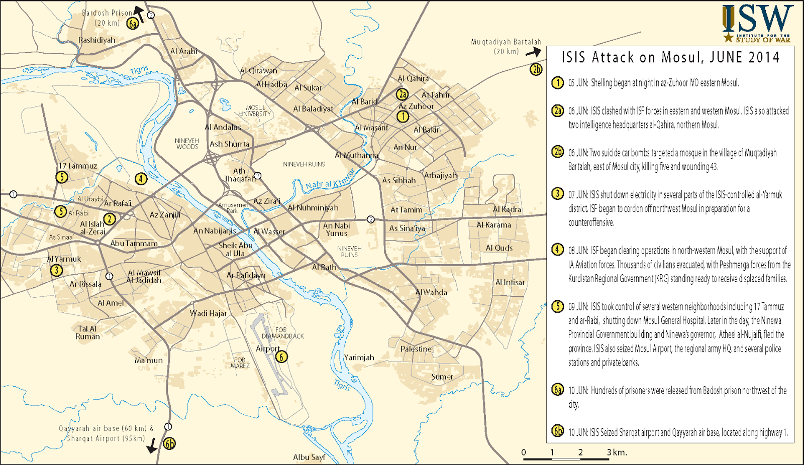 ISW Blog Recent Chronology of the Fall of Mosul