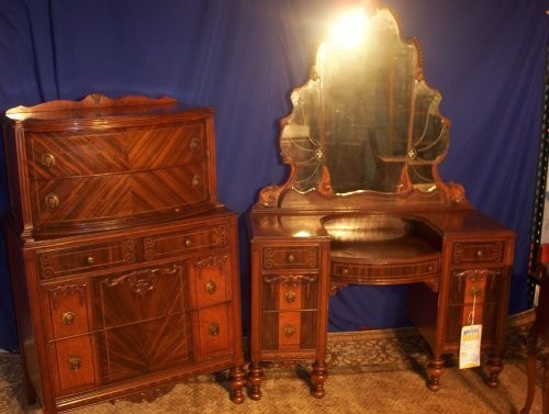 51oolq6jmcl mahogany waterfall bedroom set dresser vanity stand