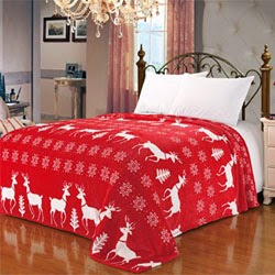 Bedding Red Reindeer Snowflake Queen