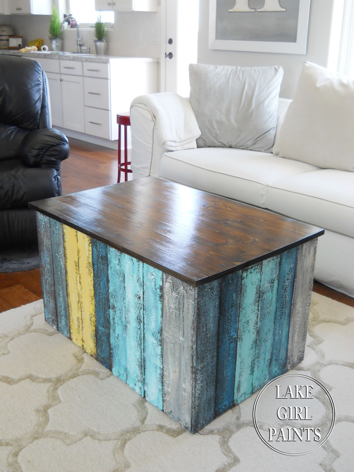 Lake Girl Paints Beach Box Coffee Table