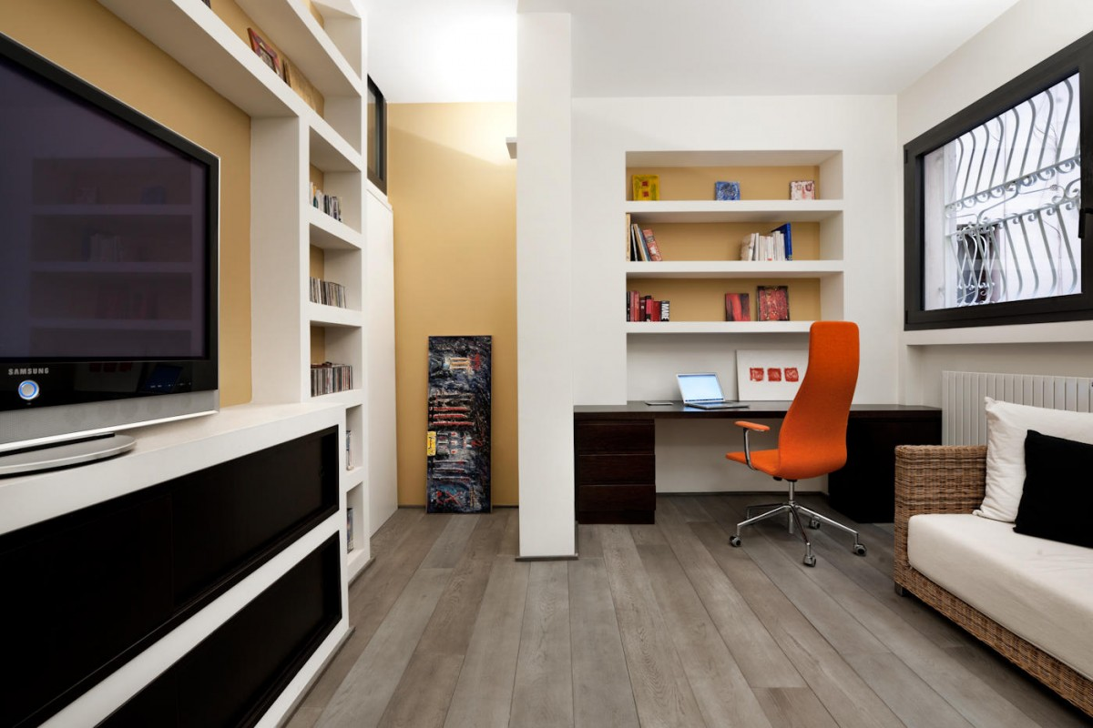 3D Architectural Artwork Simple And Modern Working Room