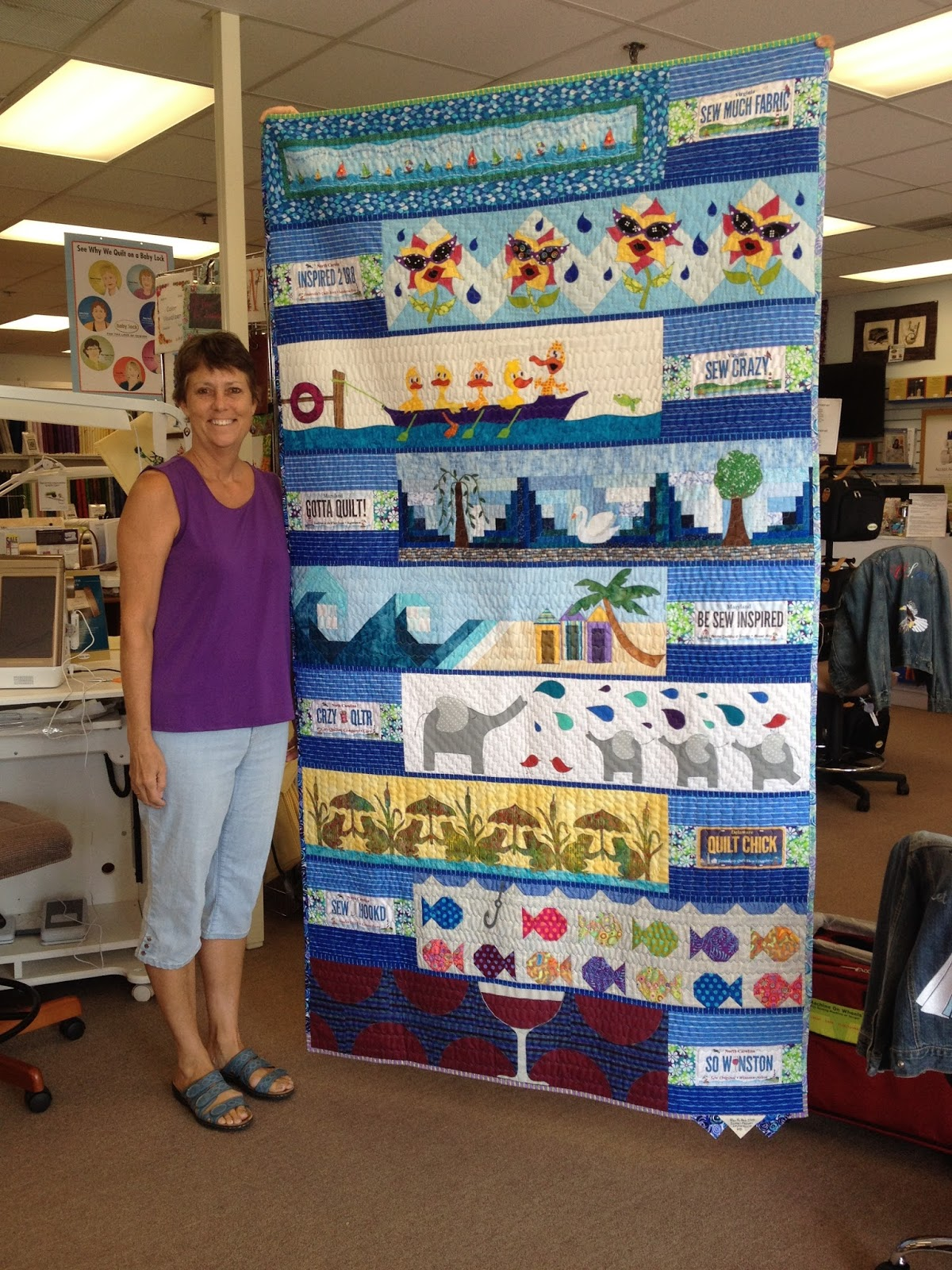 Susans Quilt Creations 2015 Row By Row Finished