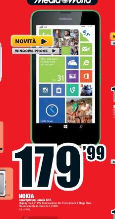 Svelato il prezzo del Lumia 635 nuovo smartphone LTE di Nokia di fascia media bassa