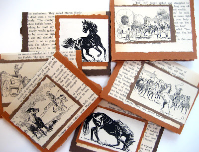 Notecards made from old Western books