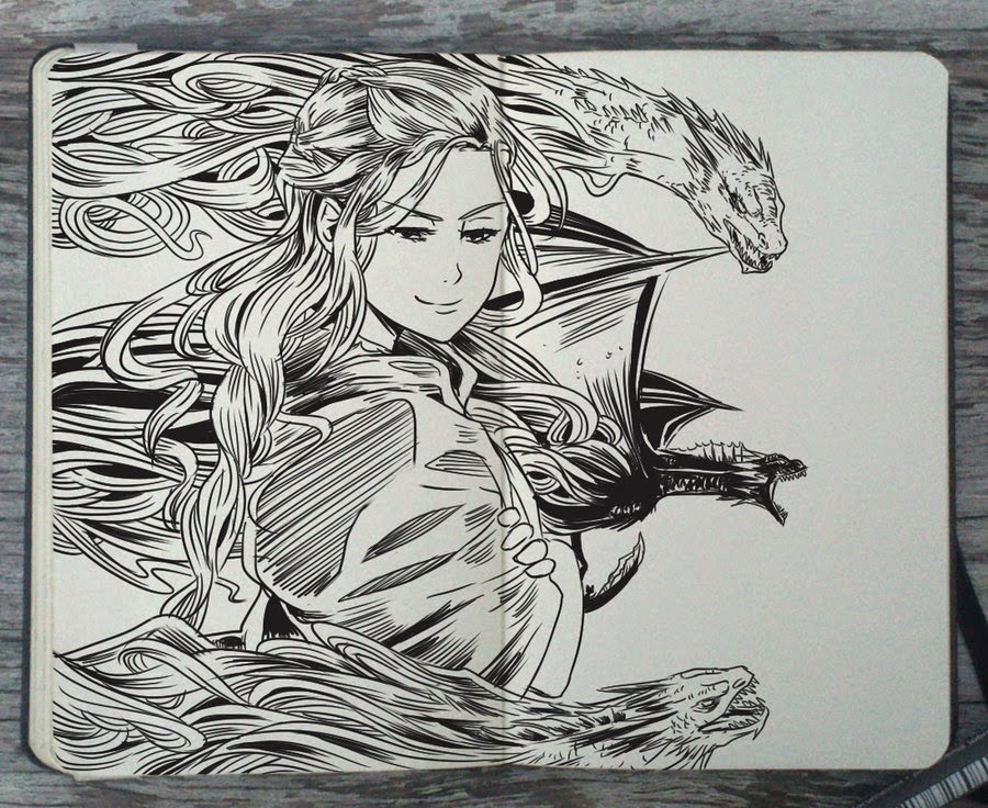 02-Mother-of-Dragons-Gabriel-Picolo-365-Days-of-Doodles-www-designstack-co