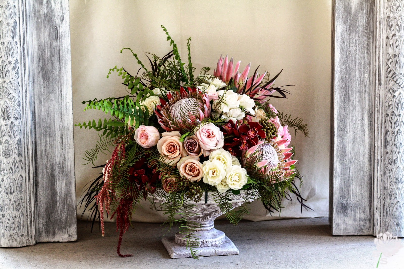 The Roundhouse Wedding - Beacon, NY - Hudson Valley Wedding - Ceremony Arrangement - Wedding Flowers - Splendid Stems Floral Designs