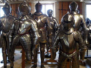 Suits of armour at Hotel des Invalides, Paris