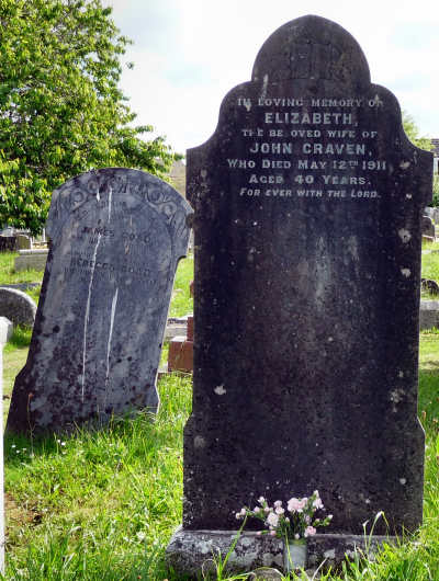 My Grandmother, Elizabeth Craven's Headstone in St. Stephen's.