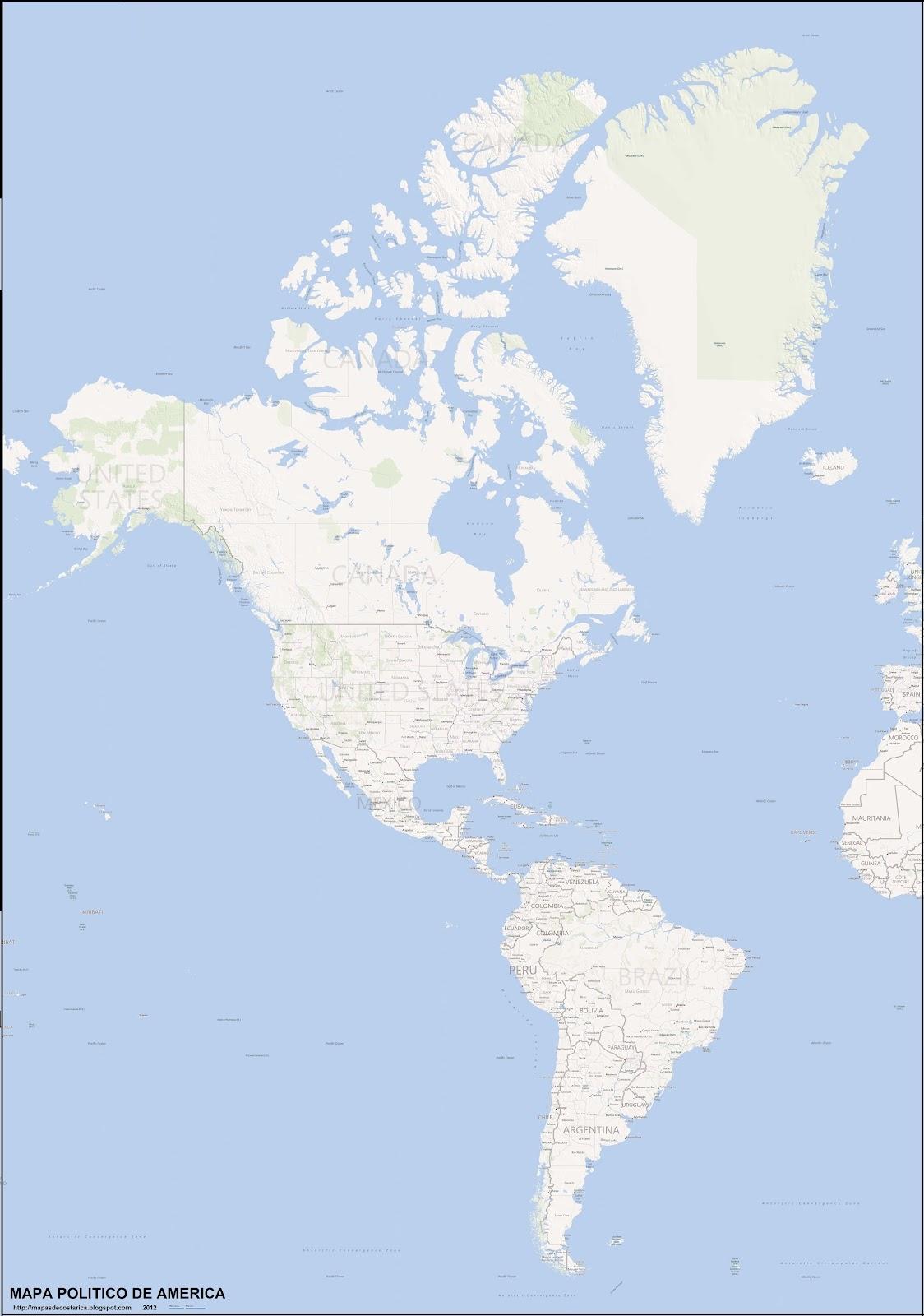 Mapa Hidrografico Del Continente Americano Para Colorear