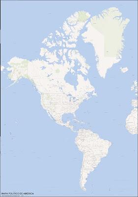 AMERICA, mapa politico. (mapa grande 3976x5660px, peso: 2117kb)